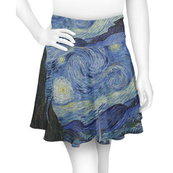 The Starry Night (Van Gogh 1889) Skater Skirt