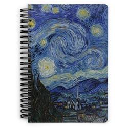 The Starry Night (Van Gogh 1889) Spiral Bound Notebook - 7x10