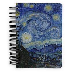 The Starry Night (Van Gogh 1889) Spiral Bound Notebook - 5x7