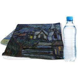 The Starry Night (Van Gogh 1889) Sports & Fitness Towel