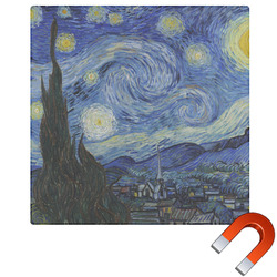 The Starry Night (Van Gogh 1889) Square Car Magnet