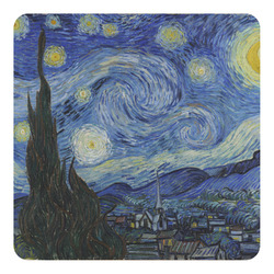 The Starry Night (Van Gogh 1889) Square Decal - Medium