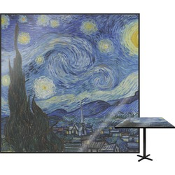 The Starry Night (Van Gogh 1889) Square Table Top - 30""