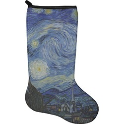 The Starry Night (Van Gogh 1889) Holiday Stocking - Neoprene
