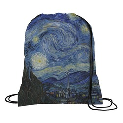 The Starry Night (Van Gogh 1889) Drawstring Backpack