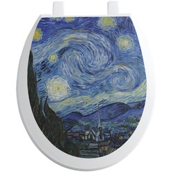 The Starry Night (Van Gogh 1889) Toilet Seat Decal - Round