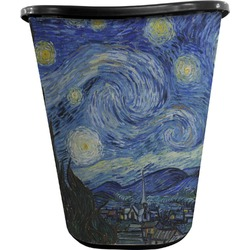 The Starry Night (Van Gogh 1889) Waste Basket - Double Sided (Black)