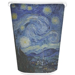 The Starry Night (Van Gogh 1889) Waste Basket - Double Sided (White)