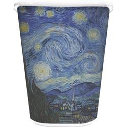 The Starry Night (Van Gogh 1889) Waste Basket - Single Sided (White)