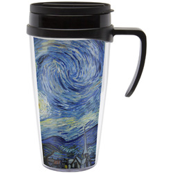 The Starry Night (Van Gogh 1889) Travel Mug with Handle