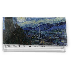 The Starry Night (Van Gogh 1889) Vinyl Check Book Cover