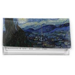 The Starry Night (Van Gogh 1889) Vinyl Check Book Cover