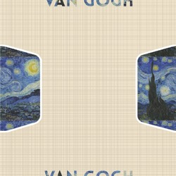 """The Starry Night (Van Gogh 1889) Wallpaper & Surface Covering (Peel & Stick 24""""x 24"""" Sample)"""