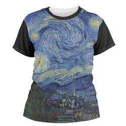 The Starry Night (Van Gogh 1889) Women's Crew T-Shirt