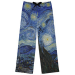 The Starry Night (Van Gogh 1889) Womens Pajama Pants