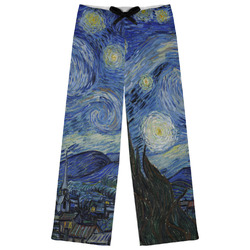 The Starry Night (Van Gogh 1889) Womens Pajama Pants - M