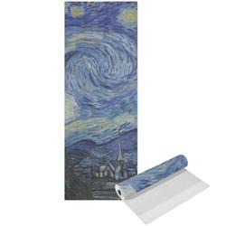 The Starry Night (Van Gogh 1889) Yoga Mat - Printed Front