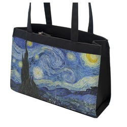 The Starry Night (Van Gogh 1889) Zippered Everyday Tote