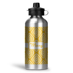 Tribal Diamond Water Bottle - Aluminum - 20 oz (Personalized)