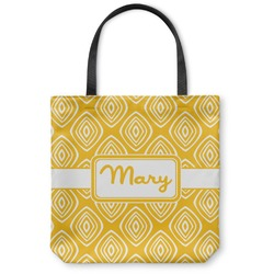 "Tribal Diamond Canvas Tote Bag - Small - 13""x13"" (Personalized)"