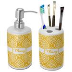 Tribal Diamond Bathroom Accessories Set (Ceramic) (Personalized)