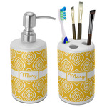 Tribal Diamond Bathroom Accessories Set (Ceramic) (Personalized)