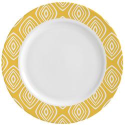 Tribal Diamond Ceramic Dinner Plates (Set of 4) (Personalized)