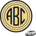 Tribal Diamond Circle Monogram Car Decal (Personalized)