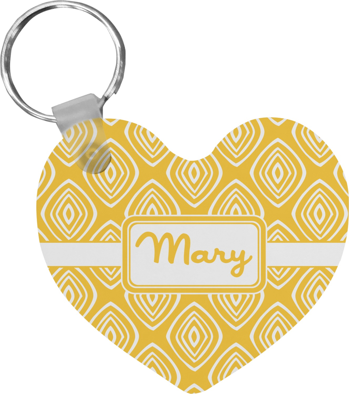 tribal diamond heart keychain personalized youcustomizeit