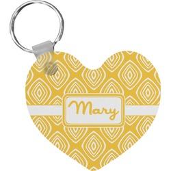 Tribal Diamond Heart Keychain (Personalized)