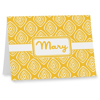 Tribal Diamond Note cards (Personalized)