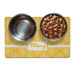 Tribal Diamond Dog Food Mat (Personalized)