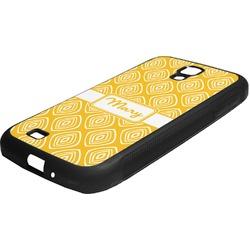 Tribal Diamond Rubber Samsung Galaxy 4 Phone Case (Personalized)