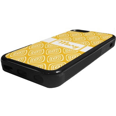 Tribal Diamond Rubber iPhone 5C Phone Case (Personalized)