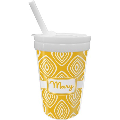 Tribal Diamond Sippy Cup with Straw (Personalized)