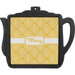 Tribal Diamond Teapot Trivet (Personalized)