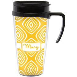 Tribal Diamond Travel Mug with Handle (Personalized)