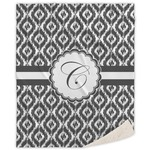 Ikat Sherpa Throw Blanket (Personalized)