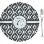"Ikat Glass Appetizer / Dessert Plates 8"" - Single or Set (Personalized)"