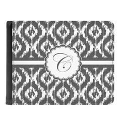Ikat Genuine Leather Men's Bi-fold Wallet (Personalized)