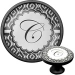 Ikat Cabinet Knob (Black) (Personalized)