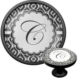 Ikat Cabinet Knob (Black) (Personalized)