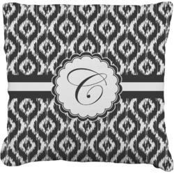 """Ikat Faux-Linen Throw Pillow 16"""" (Personalized)"""