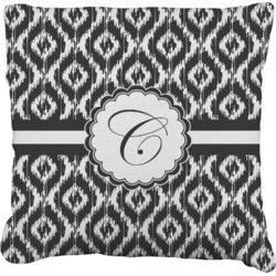 """Ikat Faux-Linen Throw Pillow 26"""" (Personalized)"""