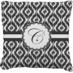 Ikat Faux-Linen Throw Pillow (Personalized)