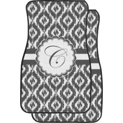 Ikat Car Floor Mats (Front Seat) (Personalized)