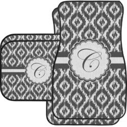 Ikat Car Floor Mats Set - 2 Front & 2 Back (Personalized)