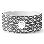 Ikat Ceramic Dog Bowl (Personalized)