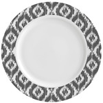 Ikat Ceramic Dinner Plates (Set of 4) (Personalized)