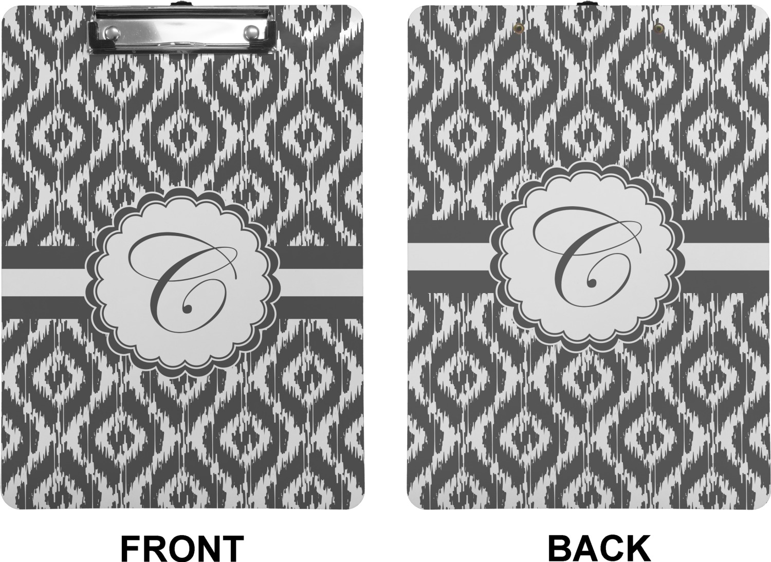 Ikat Clipboard Letter Size Personalized